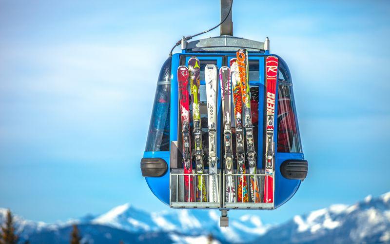 Teuersten Ski der Welt Gondel